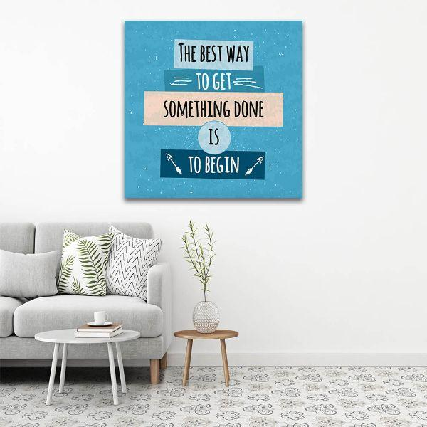 Start Now Inspiring Quotes 1 Panel Canvas Wall Art Canvasxnet