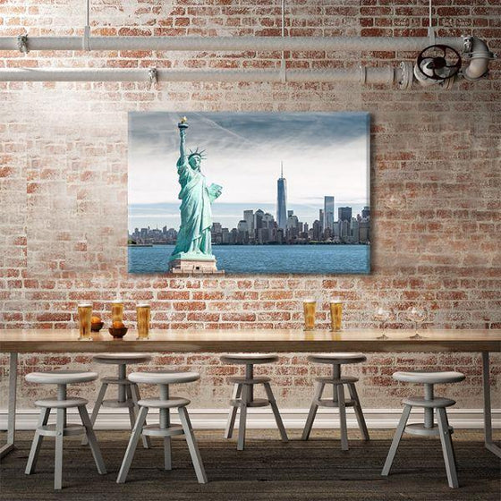 Statue Of Liberty Canvas Wall Art Dining Room