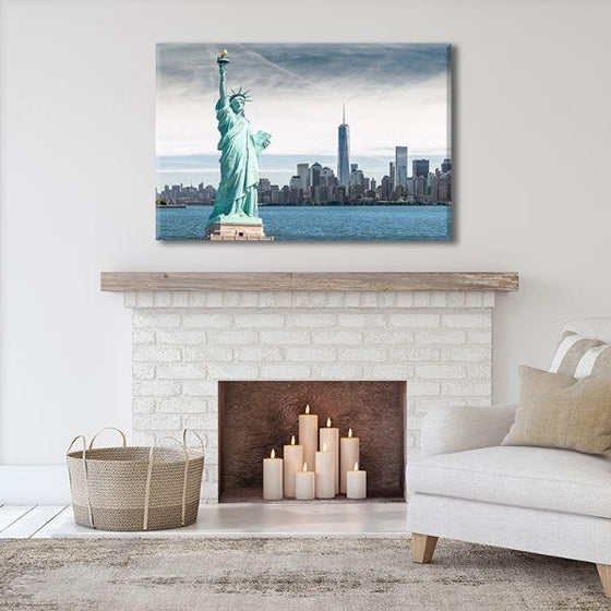Statue Of Liberty Canvas Wall Art Living Room