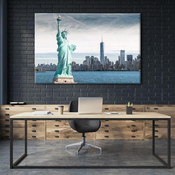 Statue Of Liberty Canvas Wall Art Office