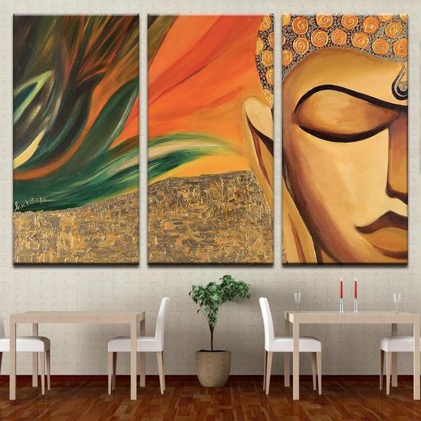 Stone Buddha Wall Art Canvas