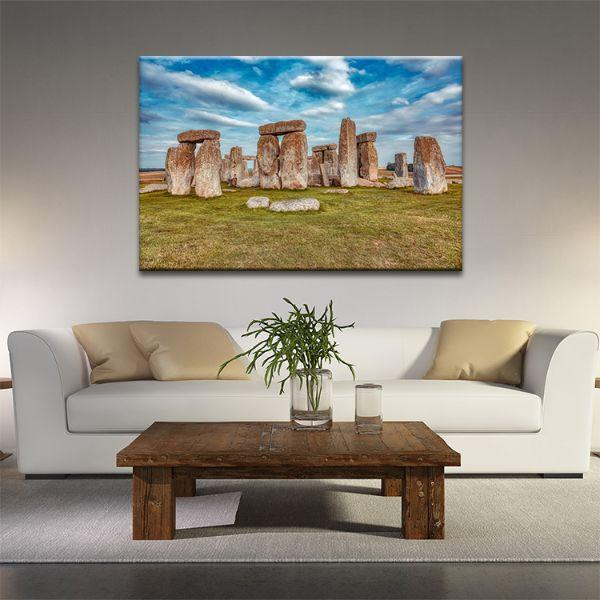 Stonehenge In Uk Canvas Art
