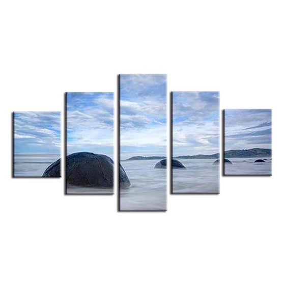 Formed Sea Waves Canvas Wall Art