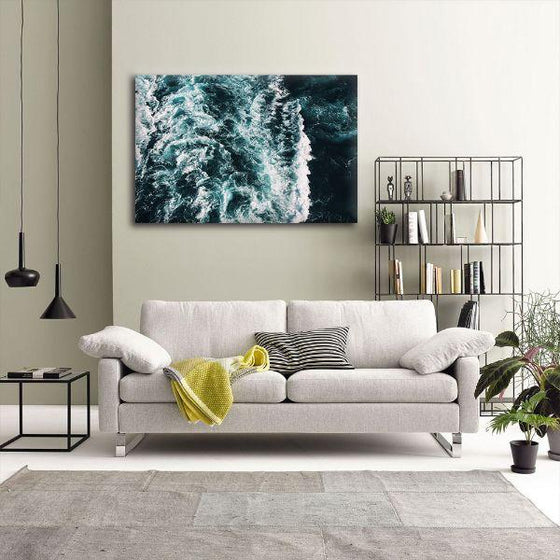 Strong Beach Waves Canvas Wall Art Decor