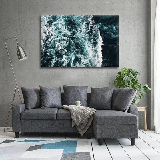 Strong Beach Waves Canvas Wall Art Ideas