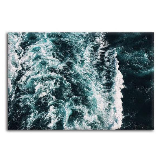 Strong Beach Waves Canvas Wall Art