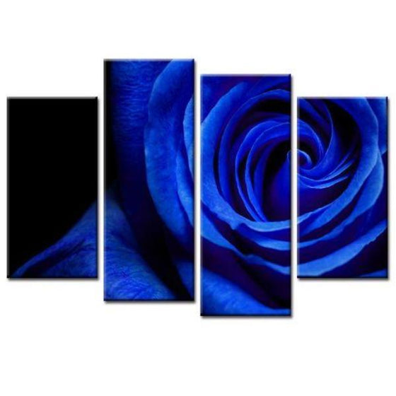 Stunning Blue Rose Wall Art