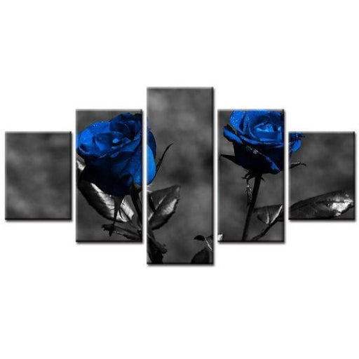 Stunning Blue Roses Wall Art