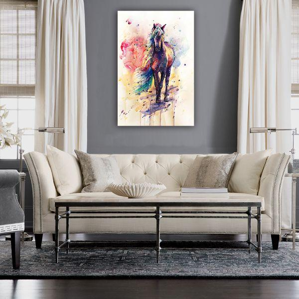 CanvasX & Stunning Colorful Horse Canvas Art