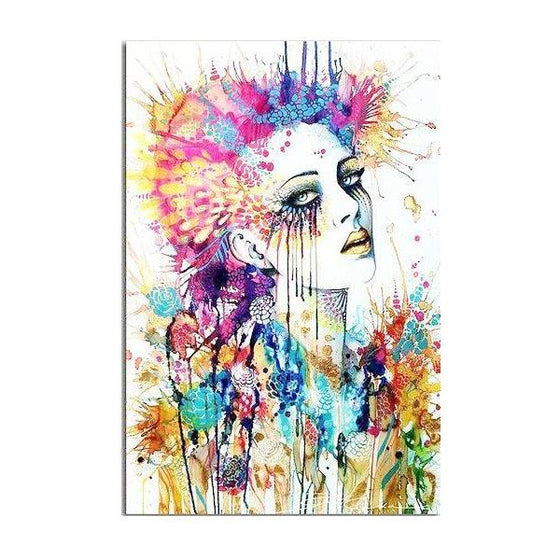 Stunning Contemporary Face Canvas Art