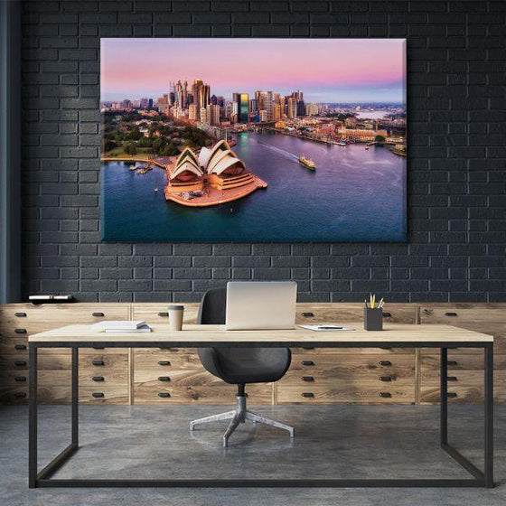 Sunrise & Sydney Harbour Canvas Wall Art Office