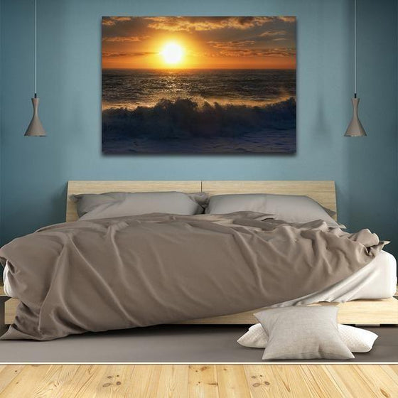 Sunrise By The Beach Wall Art Bedroom