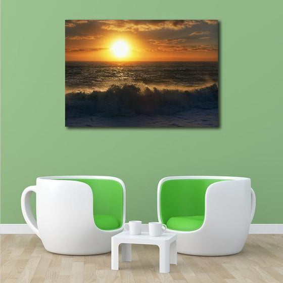 Sunrise By The Beach Wall Art Living Room