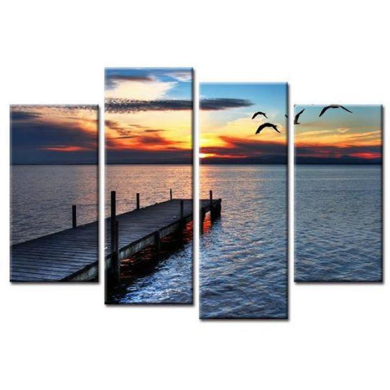 Sunrise In An Open Sea Wall Art
