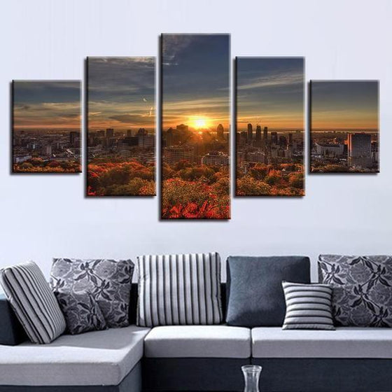 Captivating Sunrise Canvas Wall Art Living Room