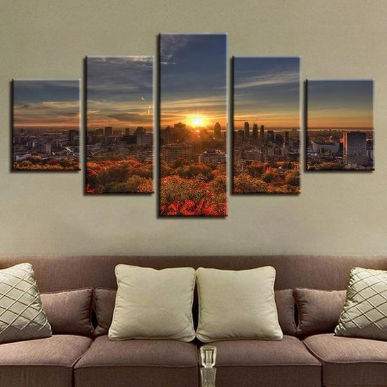 Captivating Sunrise Canvas Wall Art Living Room Ideas