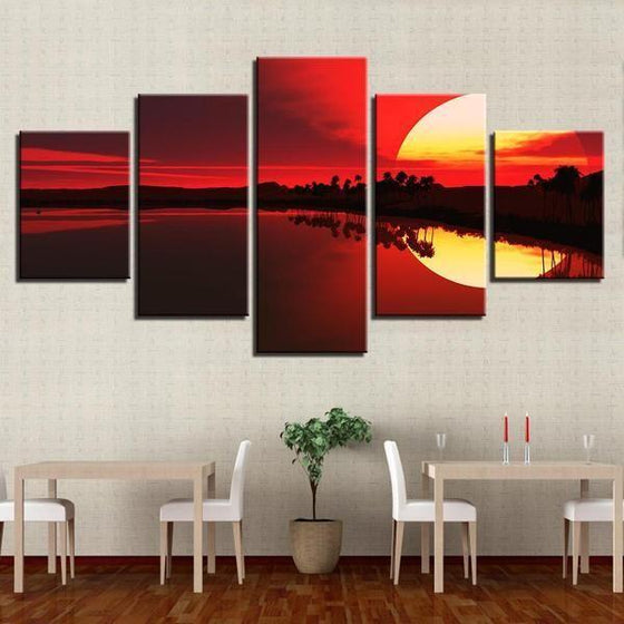 Sunset Boulevard Wall Art Canvases