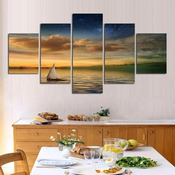Sunset Canvas Wall Art Idea