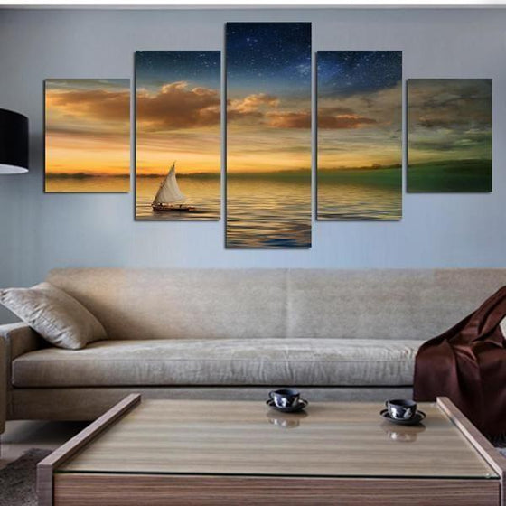 Sunset Canvas Wall Art Print