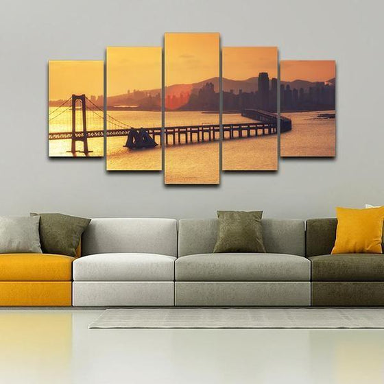 Sunset Canvas Wall Decor Idea