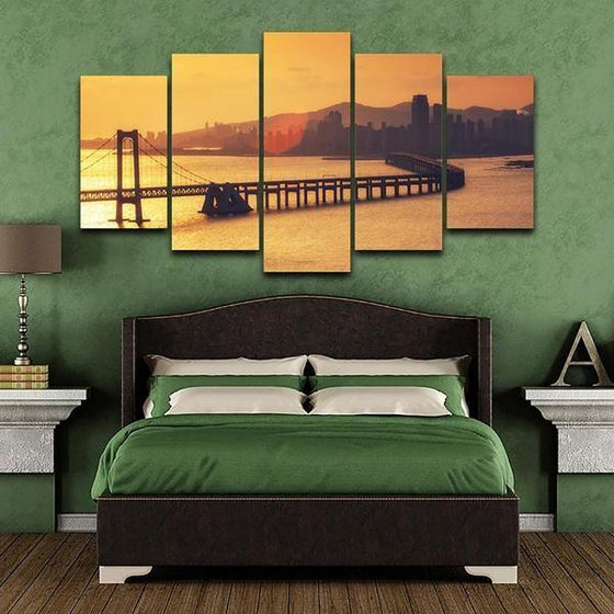 Sunset Canvas Wall Decor Ideas