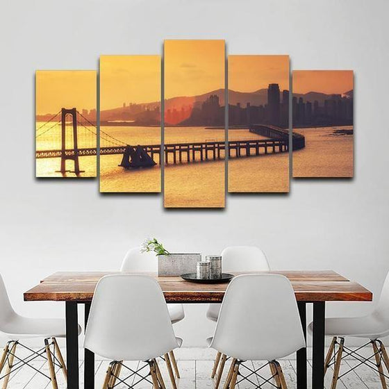 Sunset Canvas Wall Decor Print