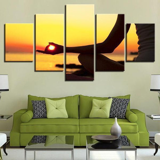 Sunset Meditation Canvas Living Room Wall Art