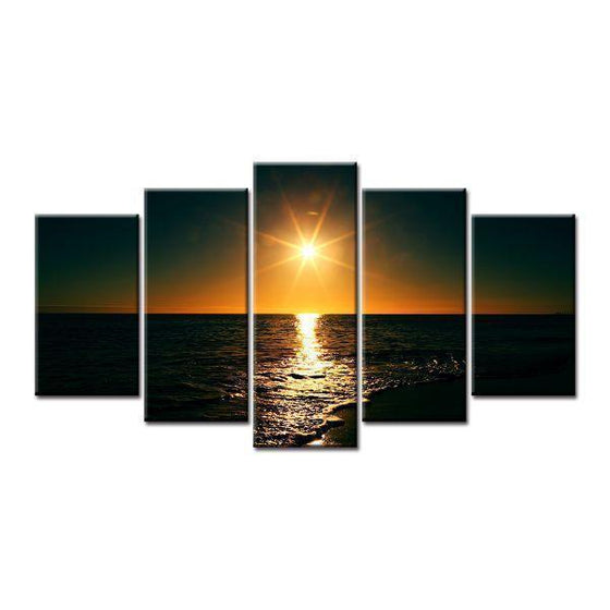 Sunset Over the Sea Canvas Wall Art