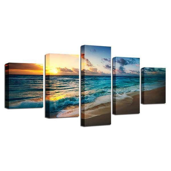 Sunset Seashore Canvas Wall Art Ideas