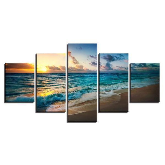 Sunset Seashore Canvas Wall Art