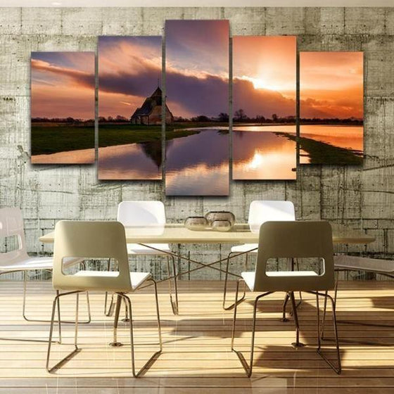 Sunset Wall Art Tropical Decor