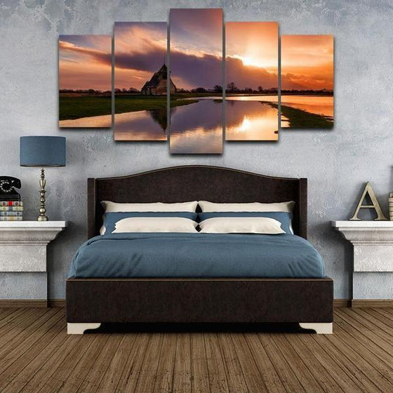 Sunset Wall Art Tropical Idea