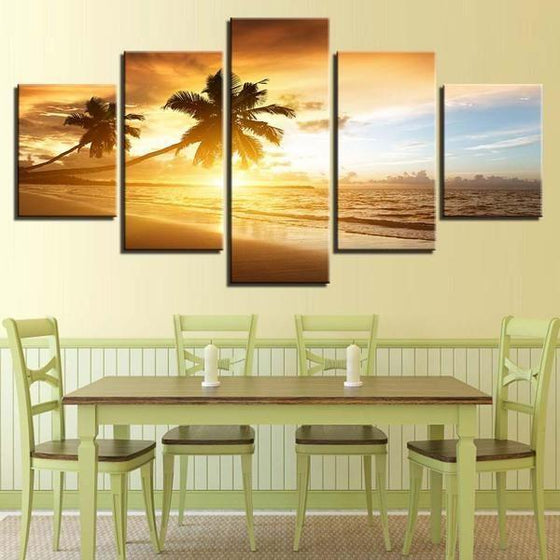 Sunset Wall Art Ocean Canvases
