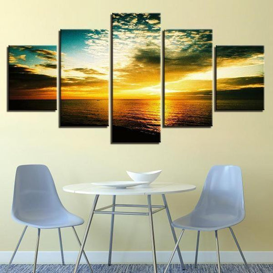 Beautiful Beach Sunset Canvas Wall Art Restaurant Decor