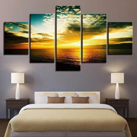 Beautiful Beach Sunset Canvas Wall Art Bedroom