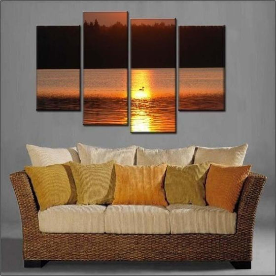 Sunset Wall Print Canvas