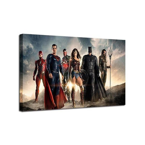Justice League Inspired Single Panel Canvas Wall Art — canvasx.net