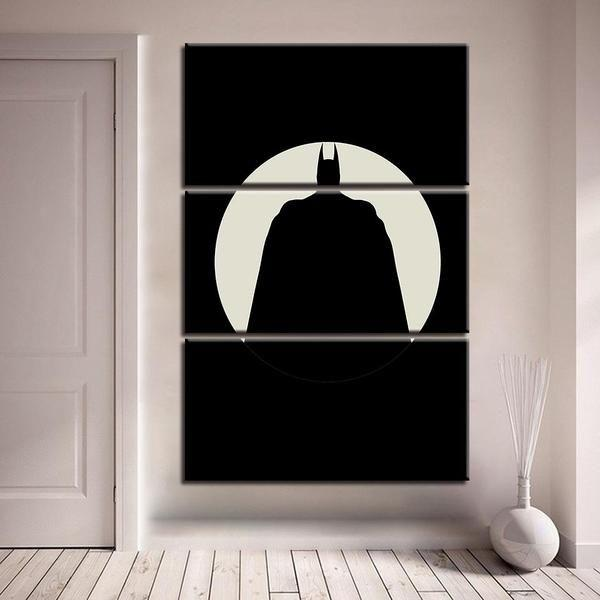 Batman Inspired Yin Yang Canvas Wall Art — canvasx.net