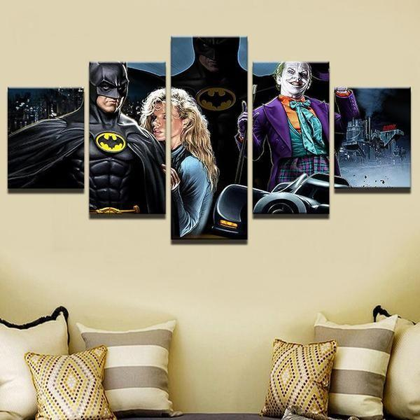 Superhero Comic Wall Art Canvas