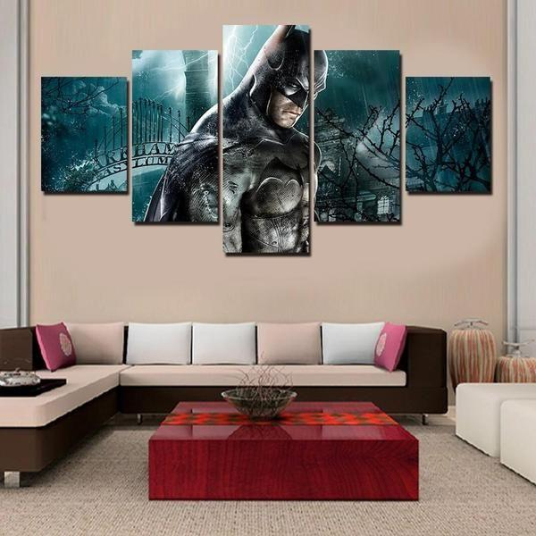 Superhero Wooden Wall Art Idea