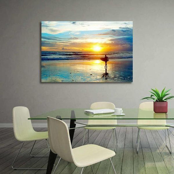 Surfer And Sunset Wall Art Ideas