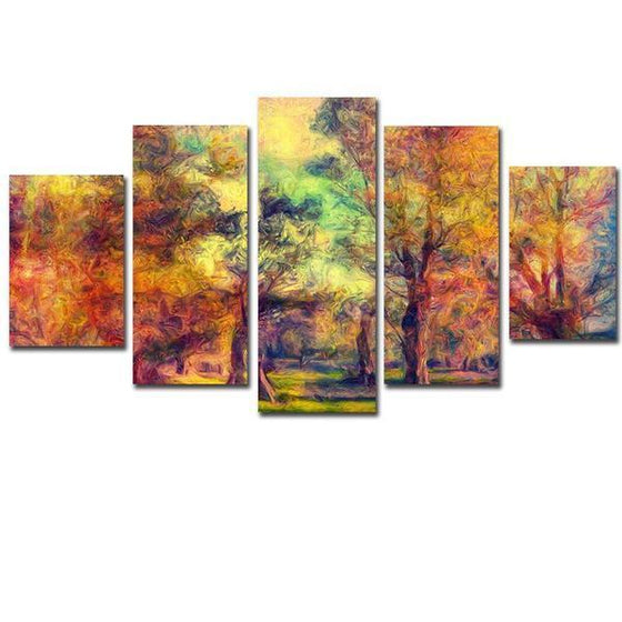 Colorful Woods Canvas Wall Art Ideas