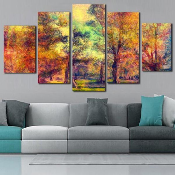 Colorful Woods Canvas Wall Art