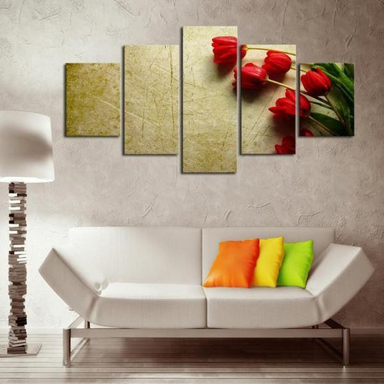 Red Flower Canvas Wall Art
