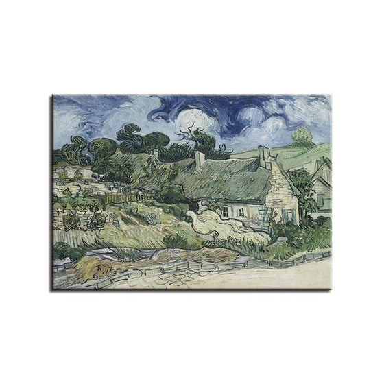 Thatched Cottages Cordeville Wall Art Canvas