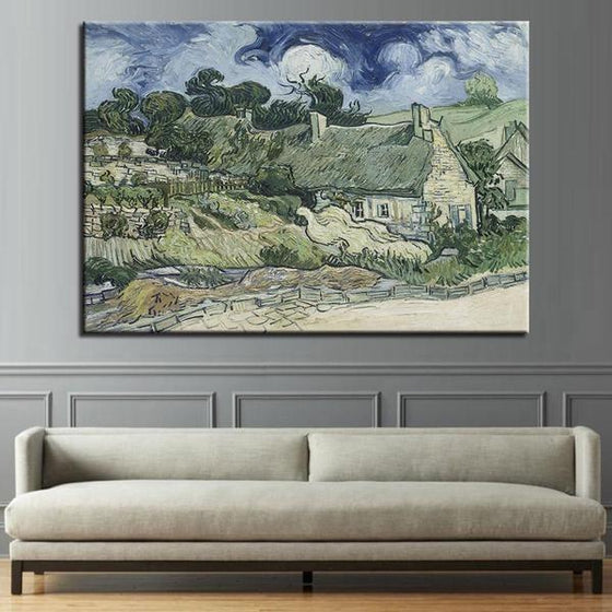 Thatched Cottages Cordeville Wall Art