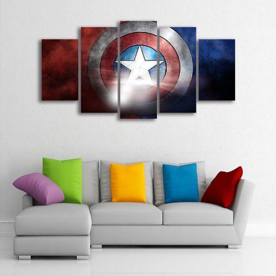 The Indestructible Shield Canvas Wall Art Decor
