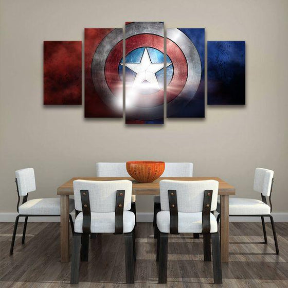 The Indestructible Shield Canvas Wall Art Dining Room