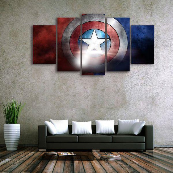 The Indestructible Shield Canvas Wall Art Living Room