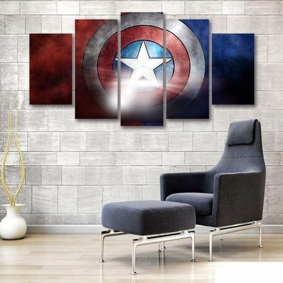 The Indestructible Shield Canvas Wall Art Print
